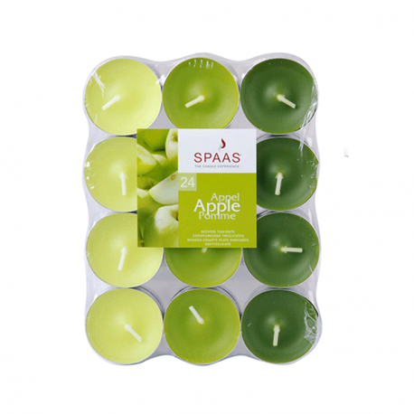 SPAAS Värmeljus Apple 24p