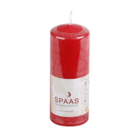 SPAAS Blockljus 60/150mm Röd