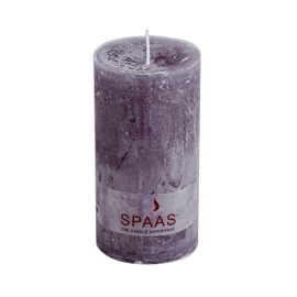 SPAAS Blockljus 70/130 mm Rustik Grå