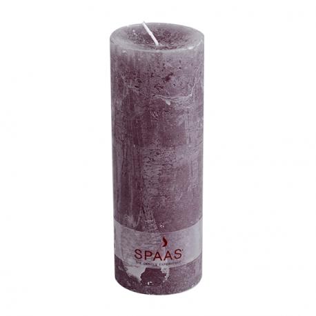 SPAAS Blockljus 70/190 mm Rustik Grå