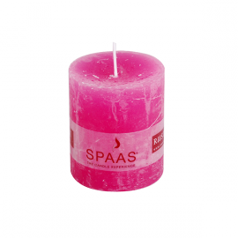 SPAAS Blockljus 70/80 mm Rustik Fuschia