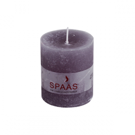 SPAAS Blockljus 70/80 mm Rustik Grå