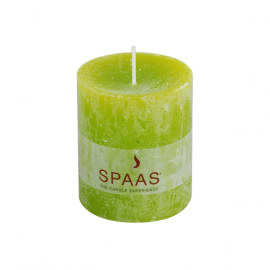 SPAAS Blockljus 70/80 mm Rustik Lime